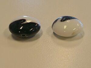 Handmade Flat Round Lampwork Beads, 20x19x10mm, Hole: 2mm Qty 4, Jewelry Making