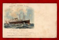 R.M.S Cedric and Celtic Post Card White Star Line of TItanic Interest