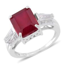 10.2 Ct NIASSA RUBY TOPAZ STERLING SILVER RING SIZE 9