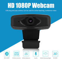 1080P Full HD Webcam Built-in Microphone USB Driver Free Clip Web Camera For PC