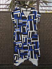 TS 14+ Edie Cora Dress S Blue Black White Pockets BNWT $129.95