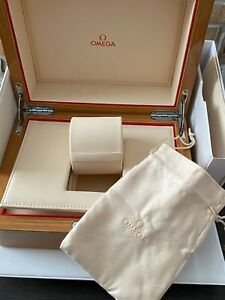 OMEGA WOODEN WATCH BOX WITH ACCESSORIES