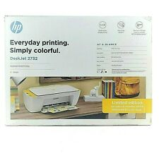 HP Deskjet 2732 Compact Printer Wireless All In One Instant Ink Ready Marigold