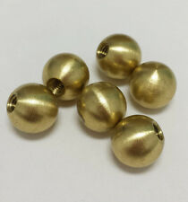 "(6) solid brass ball knob finials. 1/2"" round / .5"" diameter  8 - 32 threads"