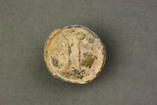 Civil War Confederate Gold Plated Pewter Block Infantry Coat Button