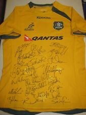Australian Wallabies 2013 team signed jersey ( v British Lions)  + COA  / Proof