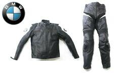 BMW Motorbike Motocycle Leather Jacket Trousers Protection Black White Medium