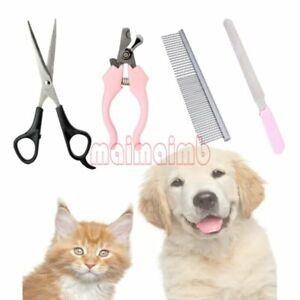 Professional Dog Cat Pet Gromming Trimmer Clipper Scissor Nail Clipper Kit Comb