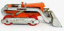HUBLEY ORANGE PRESSED STEEL TOY DIESEL BULLDOZER 505-58 CONSTRUCTION EXCAVATOR