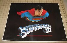 "1982 SUPERMAN III 16"" x 20"" Promo Poster Impact - Christopher Reeve Flying"