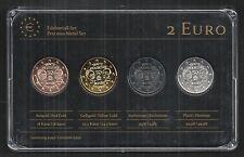 Deutschland 2 Euro Prestige Metal Coinset Elysee, Gold,Platin,Ruthenium,Neu,OVP