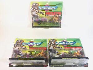 Vintage Micro Machines Predator Collection Set 1-3 Galoob 1996 New