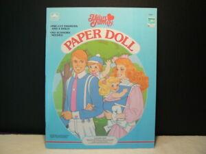 "VTG Paper Dolls, ""The Heart Family"" 1985, Golden # 1526-1, 4 Dolls, 4 Uncut Page"