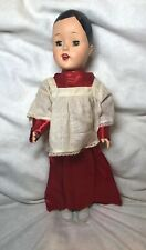 "17"" Antique Vintage Unmarked Hard Plastic 1950's Choir Boy Doll Jojnted As Is #L"