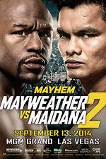 MAYWEATHER vs MAIDANA 2 JUMBO POSTER 24 x 36