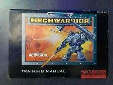 Anleitung - Mechwarrior - Super Nintendo (SNES)