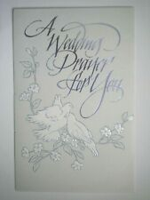 "American Greetings ~ ""A WEDDING PRAYER FOR YOU"" WHITE DOVES GREETING CARD"