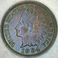 1904 UNC Indian Head Bronze Penny 1c US Coin One Cent Uncirculated