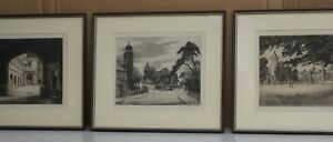 3 Etchings Signed by Artist Gertrude Hayes (1872 - 1956)