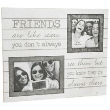 Orford Sentiment Double Frame Friends Famiily Wall Art Gift Novelty Photo