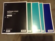 5 PK Lot Spiral Notebooks 1-Subject 70 Sheets College Ruled, Very Fast Shipping