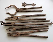 Vintage Farrier Nippers Blacksmith Tongs Forge Tools Farrier Tools LOT
