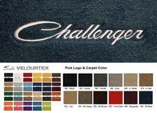 Lloyd Mats Dodge Challenger Script Custom Velourtex Front Floor Mats (2008 & Up)