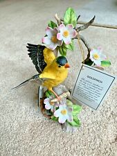 Homco Masterpiece Porcelain Goldfinch Birds of the Season Figurine Stand