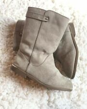 EUC Girls Toddler Boot Size 9 Old Navy Gray Rider Shoe High Bootie