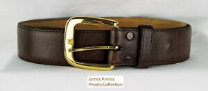 James Arness Gunsmoke  Jim's Brown  Cowhide Leather Hickok Belt  Size 40
