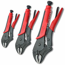 Curved Jaw Locking Welding Pliers 3 Piece Heavy Duty CR-MO Vise Vice Multi Grips