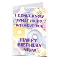 Happy Birthday Card For Mum Cute Perfect For Mum's 40th 50th 60th 70th
