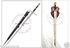 Aragorn Strider Sword with knife + Boromir Sword LOTR with Wooden Display Stand