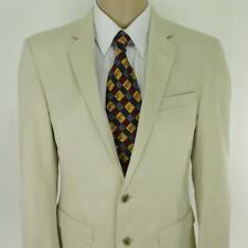 38 R Kenneth Cole Ivoire Coton Blanc 2 Boutons Hommes Blouson Sport Blazer