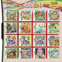 Girls Game 486 IN 1 Video Games Multi Cartridge for Nintendo NDS NDSi 3DS 2DS DS