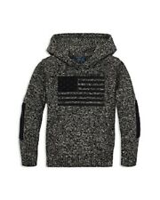 Polo Ralph Lauren Boys' Camo-Patterned Flag Sweater - Big Kid Size-6