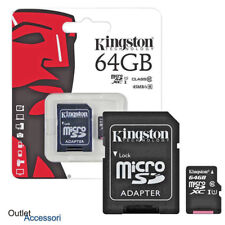 Memoria Memory Card Esterna Micro SD SDHC 64GB 64 Kingston Canvas uhs-1 SDCS/64G