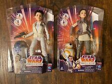 STAR WARS Forces Of Destiny Princess Leia / R2-D2 & Rey of Jakku / BB-8 Doll Lot