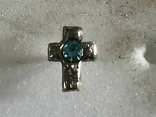 STERLING SILVER NOSE STUDS BLUE CROSS