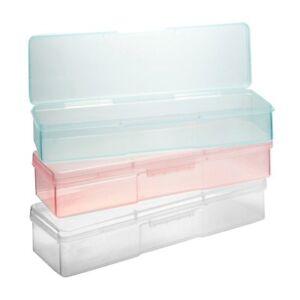 Feilenbox Kundenbox für Pinsel Buffer Feilen Nailart transparent