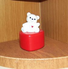 Hallmark Merry Miniature 1985 Teddy Bear on Heart Container