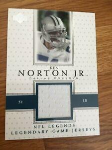 Ken Norton Jr  2000 Upper Deck Legends Game Worn Jersey Card Dallas Cowboys