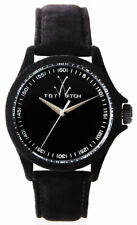 ToyWatch Sartorial Black Velvet Touch Womens Strap Watch PE01BK