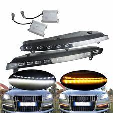 2 Voiture LED Clignotant Avant Latéral Feux de Jour Position Lampe Pour Audi Q7