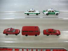 L96-0,5# 5x Herpa H0, Polizei Audi 80 Opel Rekord, Feuerwehr FW BMW 528 VW, TOP