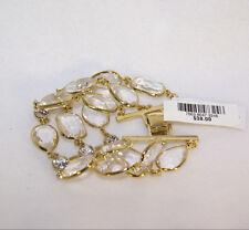 Charter Club Gold-Tone Three Row Clear Stone Bracelet