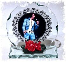 Elvis Presley, Golden Oldies , Cut Glass Round Plaque, Tribute Ltd Edition #1