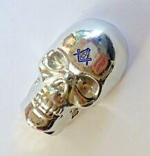FreeMason Skull 200g hand poured bar 999 fine tin. Masonic skull paper weight