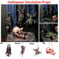 Halloween Hanging Props Simulation Mouse Bat Spider Pig Haunted House Decor-WI