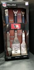 Houston Texans Nfl 3 piece Stainless Steel Grill Tool Set - Officially Licensed